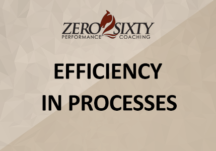 Efficiency In Processes- Zero2Sixty Performance Coaching